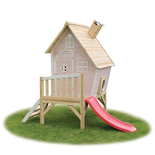 EXIT Fantasia 300 Pink / Kinderspielhaus / Material: Zedernholz / Maße: 240x163x226 cm / Gewicht: 66 kg / für Kinder ab 3 Jahren