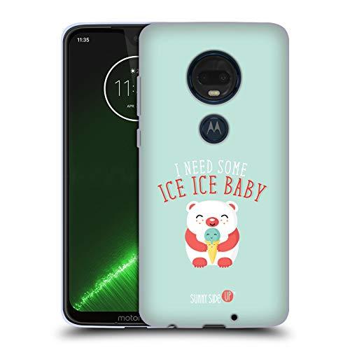 Head Case Designs Offizielle Muy Pop Icebear Sonnige Seite Hoch Tiere Soft Gel Hülle für Motorola Moto G7 Plus