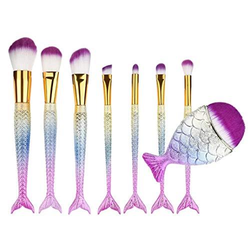 MuSheng(TM) 8pcs maquillage fond de teint eyeliner blush cosmétique pinceau