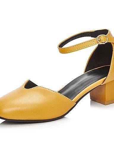 LFNLYX Chaussures Femme-Mariage / Bureau & Travail / Habillé / Décontracté / Soirée & Evénement-Noir / Jaune / Blanc-Talon Plat-Compensées / Yellow