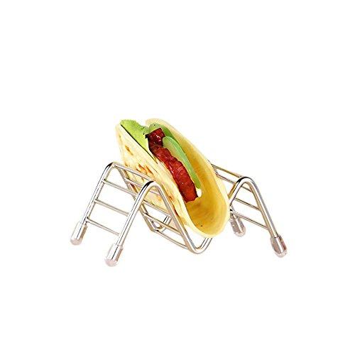 FOONEE Taco Halter, Edelstahl Taco Halter Ständer hart oder Soft Shell Tacos-Spülmaschinenfest, Ofenfest für Backen oder Aufwärmen, 4Schichten, 1-9.5 x 6.5 x 4.2cm