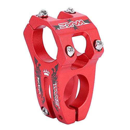 Alomejor Fahrrad Lenker Vorbau 31.8mm Aluminiumlegierung MTB Fahrrad Lenker Vorbau Für Radfahren(Rot) -