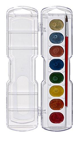 amphoe Prang waschbar Aquarell Set 8-Farb-Mal-Set Metallic Colors -