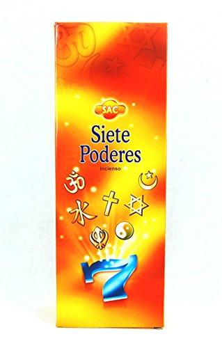 Incienso SAC Siete Poderes - Set de 6 paquetes hexagonales