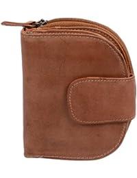 Portefeuille pour femme LEAS, cuir véritable, marron cognac - ''LEAS Vintage-Collection''