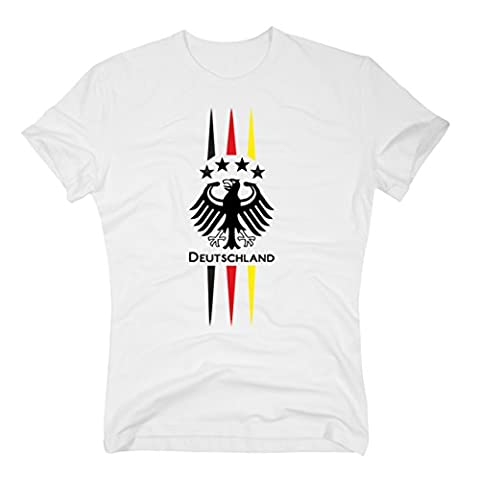 DEUTSCHLAND T-Shirt WM 2014 Fan Adler weiss, S