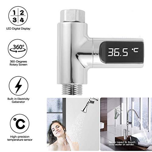 Led-digital-wasser (LED Digital Dusche Celsius Temperaturanzeige Wasserthermometer Monitor Wasserkraft Echtzeit-Badewassertemperatur-Monitor für Kinder)