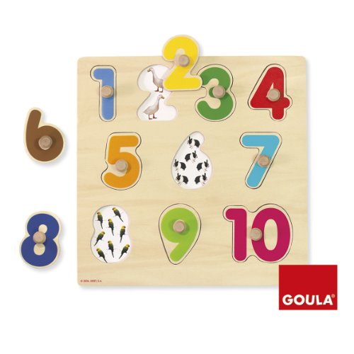 Goula Numbers Puzzle Encajes Madera números Goula28x28 Diset 53074