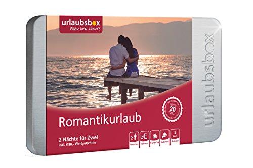 Reisegutschein 'Romantikurlaub' in Urlaubsbox - 2 Nächte inkl. Frühstück für 2 Personen + 80€ Wertgutschein für Hotelleistungen