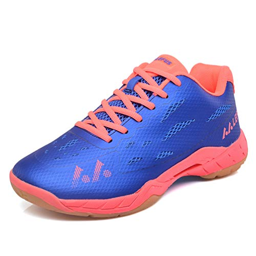 Qianliuk Men and Women Professional Badminton Shoes Indoor and Outdoor Sport Trainning Tennis Sneaker Couples Athletic Shoes