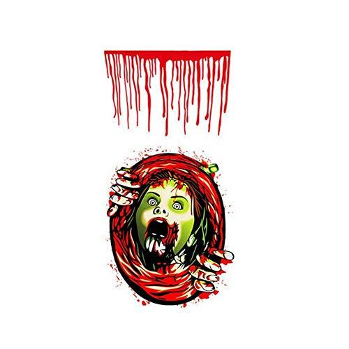 TOMMY LAMBERT Halloween Dekoration Schädel Aufkleber Halloween Wandaufkleber Horror Toilettendeckel Stick Selbstklebend Dekoration Badezimmer Wasserdicht Aufkleber Halloween Party Dekoration