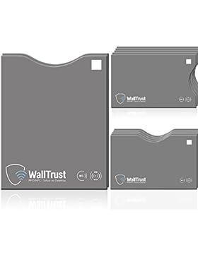 WallTrust® protectoras de tarjetas RFID NFC   Protección * Aprobado TÜV Alemán *   12 Fundas para Tarjeta de Crédito...