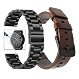 Bande de montre Galaxy Watch 46mm + protecteur d'écran, TRUMiRR 22mm Bracelet de...