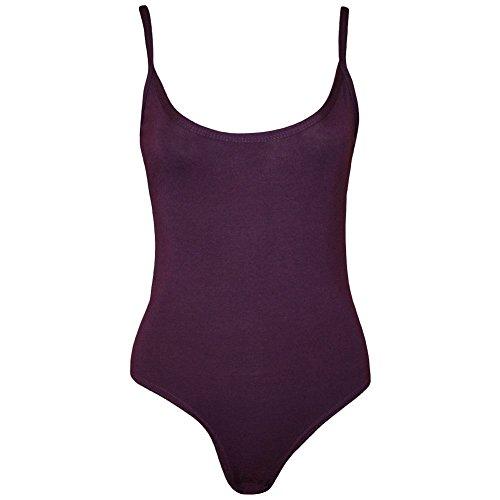 Janisramone Damen Top, Einfarbig * Einheitsgröße Violett