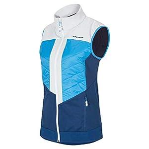Ziener Niya Lady 19/20 Damen Hybrid Softshell Funktions Weste Primaloft M194175 Muster Einzelstück French Blue