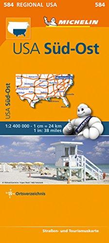 Michelin USA Süd-Ost. Straßen- und Tourismuskarte 1:2.400.000