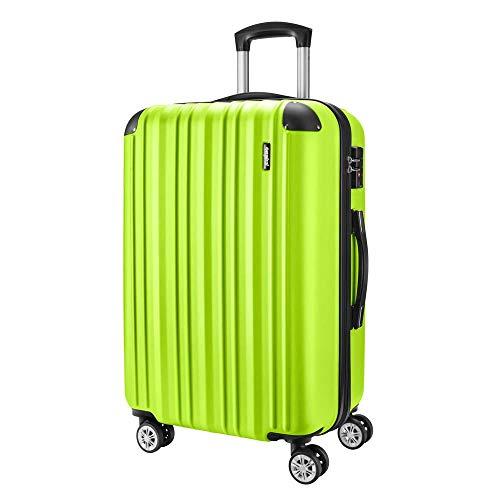 Sunydeal Maletas de Viaje,Maleta Rígida,Maleta Mediano,Candado TSA,65L,65cm,4 Ruedas multidireccional,Verde Claro