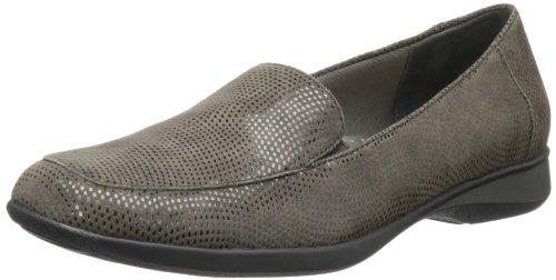 Trotters Jenn Mini Dots étroit Daim Chaussure Plate Dark Grey