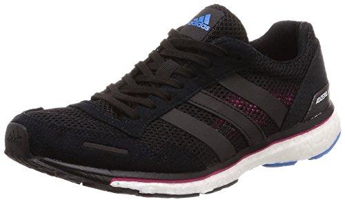 adidas Adizero Adios 3, Scarpe Running Donna, Nero Cblack/Reamag/Brblue, 38 EU