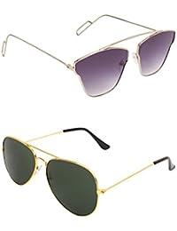 AMOUR Unisex Combo Offer Pack Of UV Protected Cateye & Aviator Stylish Sunglasses For Men Women, Boys & Girls... - B07DCDT5P3