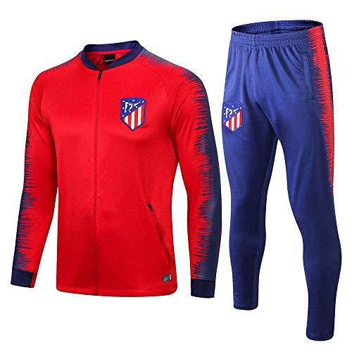 BoFlision Sportbekleidung Fußball Trainingsanzug Langarmanzug Aussehen Anzug Jacke und Hosenanzug, A, S
