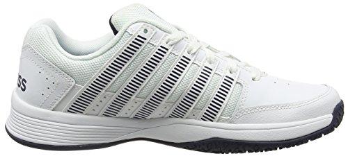 K-Swiss Court Impact Omni, Chaussures de Tennis Homme Blanc (White/dressblues 117)