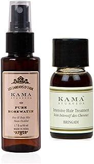Kama Ayurveda Pure Rose 50ml, Bringadi Intensive Hair Treatment 8ml Combo