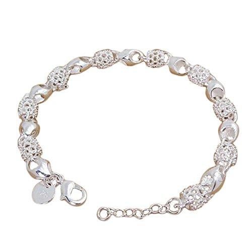 bigboba Noble Elegante verstellbar silber Armband Wunderschöner Schmuck für Frauen Hand Kette Kleidung Party Dekorationen (Kleidung Grils)