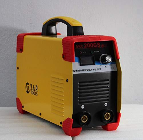 V&D Tools ARC 200GS Single Phase Inverter Welding Machine