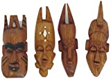 7 Miniature Mahogany Mask From Senegal by African Art