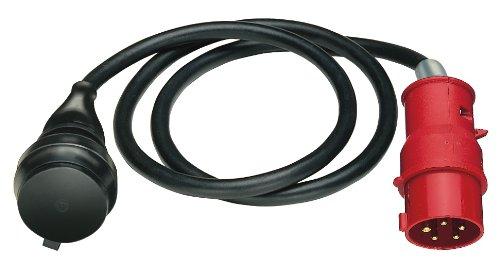 Brennenstuhl Adapterkabel / Adapterleitung 400V/16A mit CEE-Stecker (1,5m Kabel, für den Einsatz im Außenbereich IP44)