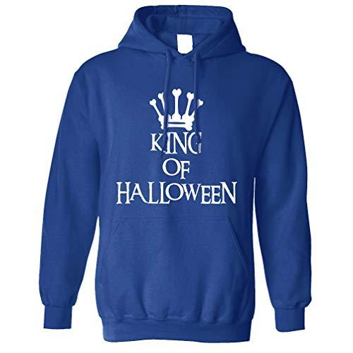 Neuheit Spooky Kapuzenpullover King of Halloween Crown Royal Blue ()