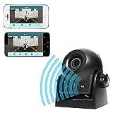 Auto Rückfahrkamera WiFi Magnetische Kamera Wasserdicht IP68-Backup-AutoKamera mit intelligenter APP kompatibel mit Android und iPhone Nachtsicht für Kfz, SUV, Van, Anhänger (Black) -