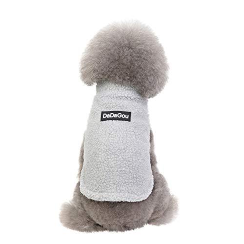 Strickjacke Fleecemantel Hundemantel Hundepullover Haustierkleidung Hawkimin Baumwolle Warmer Hund Kleidung Winter Mode Warme DaDaGou Hundepulli Fleece Jacke Hunde Pullover für Kleine Mittlere