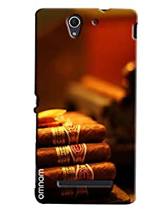 Omnam Bunch Of Cigar Printed Designer Back Cover Case For Sony Xperia C5
