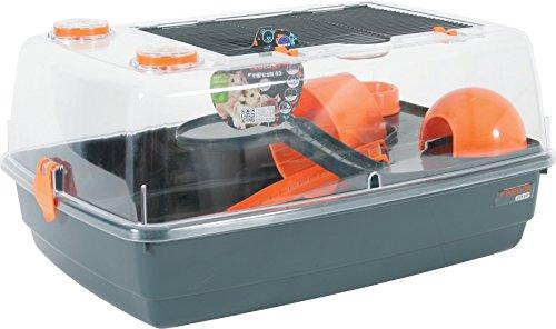 ZOLUX Indoor 55Vision 360Jaula para hámster, color naranja