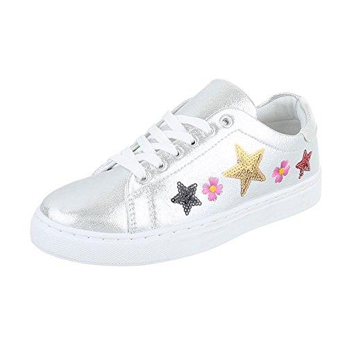 Ital-Design - Pantofole Donna Silber FC-S27