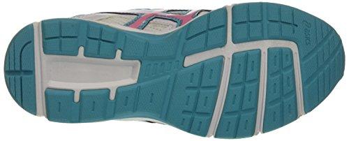 Asics Gel-Galaxy 8 Gs, Chaussures de Course pour Entraînement sur Route Unisexe-Enfant, Noir Multicolore (White/Flamingo/Scuba Blue)