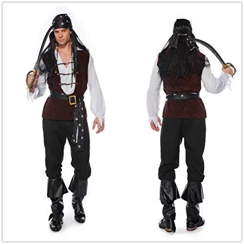 QianBianDie Piratenkostüm für Männer und Frauen, Piratenkostüm, Kostüm, Kostüm, Kostüm, Ball, Halloween, - Übergröße Kostüm Piraten
