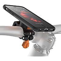 MORPHEUS LABS M4s BikeKit soporte movil bicicleta iPhone 6  - Soporte bici soporte iPhone 6 / 6s & funda iPhone 6 / 6s, certificado por el estándar militar de EE.UU, soporte bicicleta montaña gris