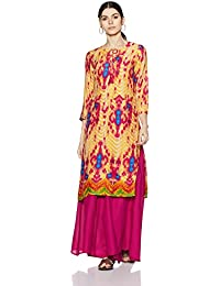 Amazon Brand - Myx Women's Rayon Straight Kurta