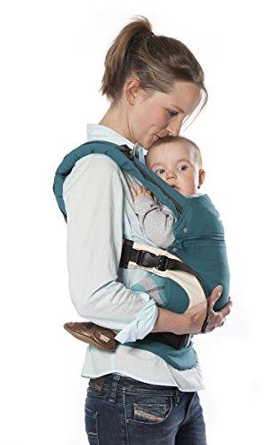 manduca 222–02–72–000Baby y portabebés, el vientre, respaldo y cadera, color azul petróleo