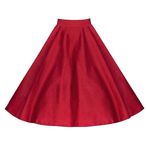 Dissa M120218D Robe de bal Vintage pin-up 50's Rockabilly robe de soirée cocktail,S-XXL Vin rouge