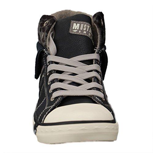 Mustang 1209501, Sneakers Hautes femme Bleu
