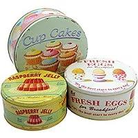 Martin Wiscombe 'Coffee Break' Set of 3 Cake Tins by ECP Design