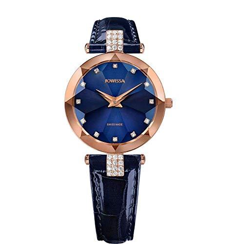 Jowissa Facet Strass Swiss J5.626.M - Reloj de Pulsera para Mujer, Color Azul y Rosa