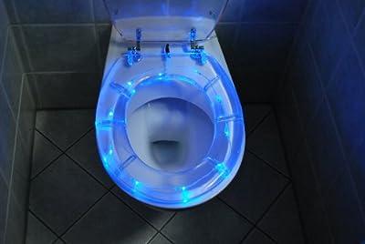 Wc Deckel Toilettensitz Klodeckel - Beleuchtet In Blau