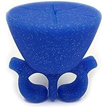 wearble Silikon Finger Ring Nagellack Halterung Universal Passform Schnelle UK Versand Glitter Blue