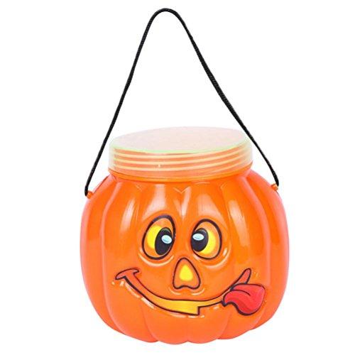 Hunpta Halloween Partei Kürbis Flaschen Kasten Süßigkeit Behälter Familien Kind dekorative Kasten (Orange)