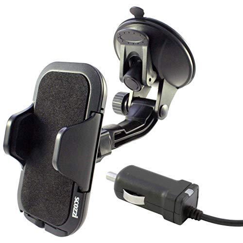 scozzi 360° KFZ Auto Handy Halter Halterung + USB TYP C Schnell-Ladekabel mit 2400mAh (Base Mod 4) universal